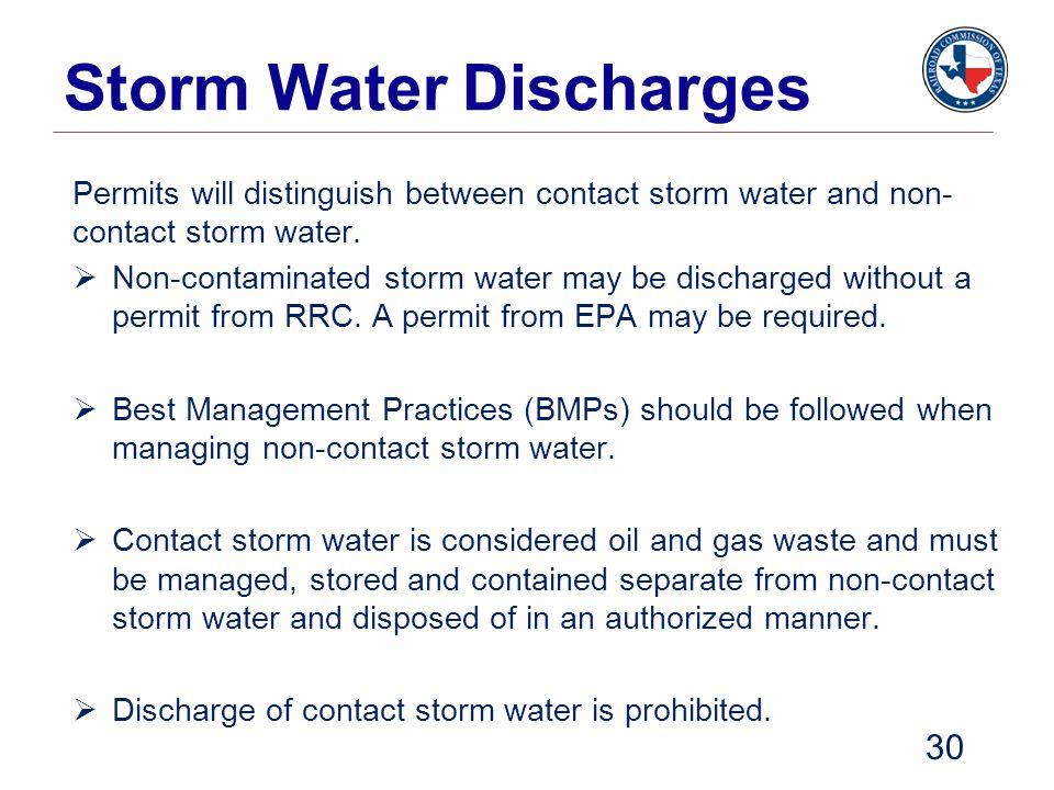 Storm Water Discharges