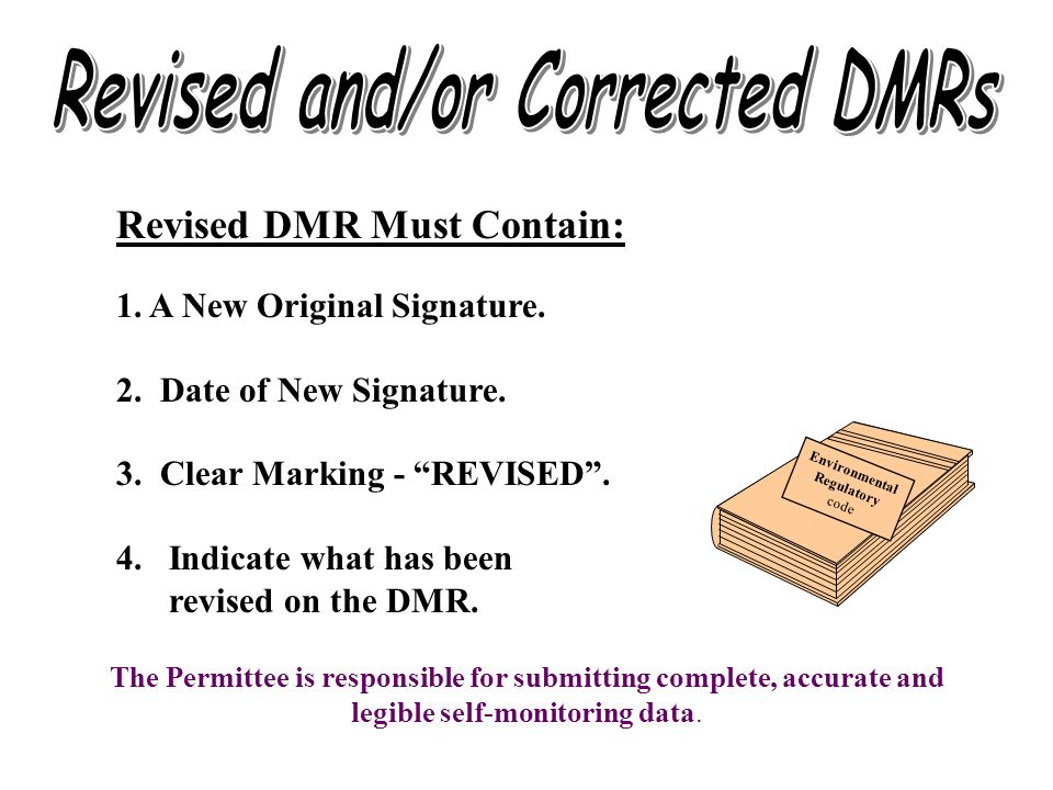 Revised and/or Corrected DMRs