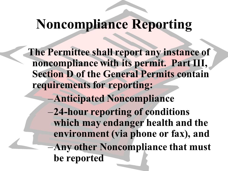 Noncompliance Reporting
