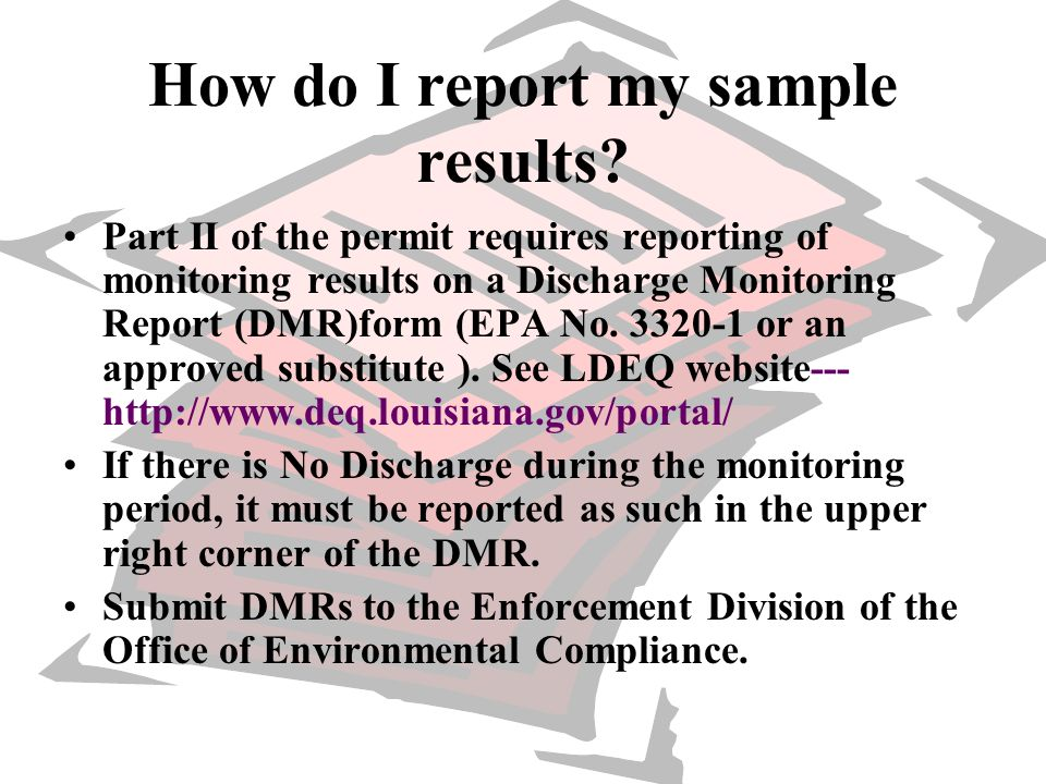 How do I report my sample results