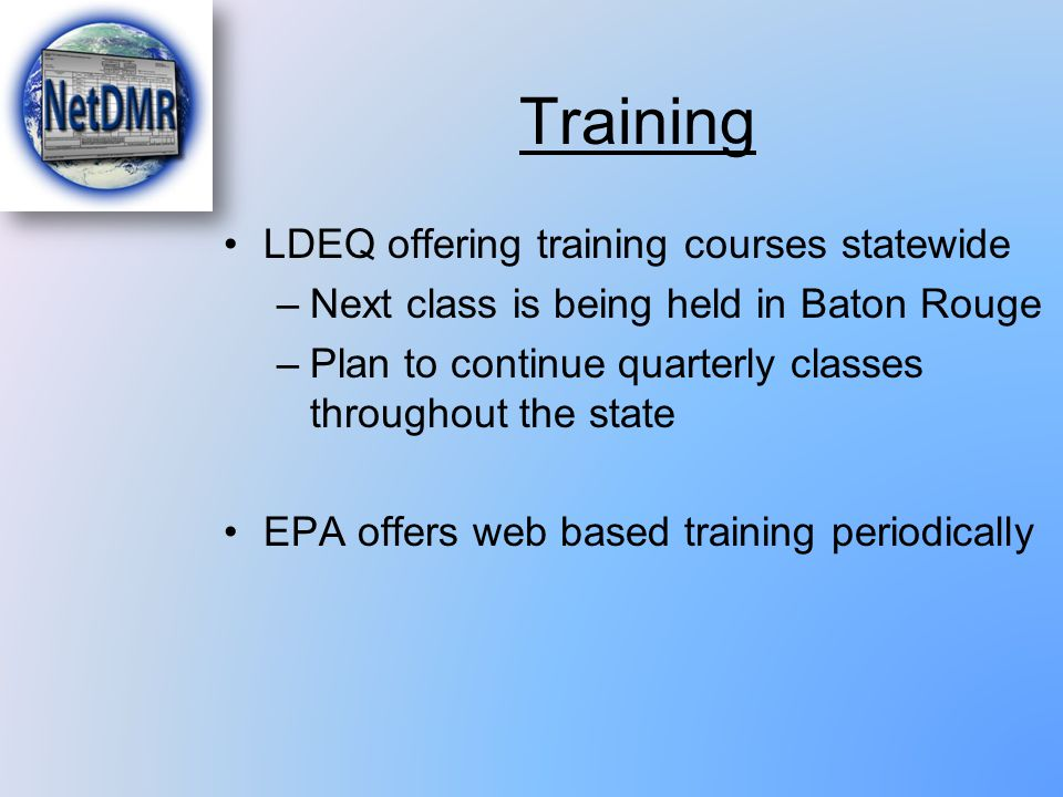 Training LDEQ offering training courses statewide