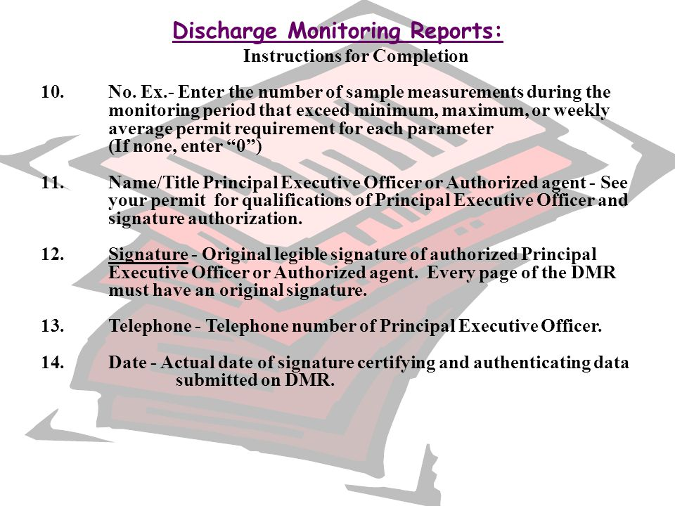 Discharge Monitoring Reports: