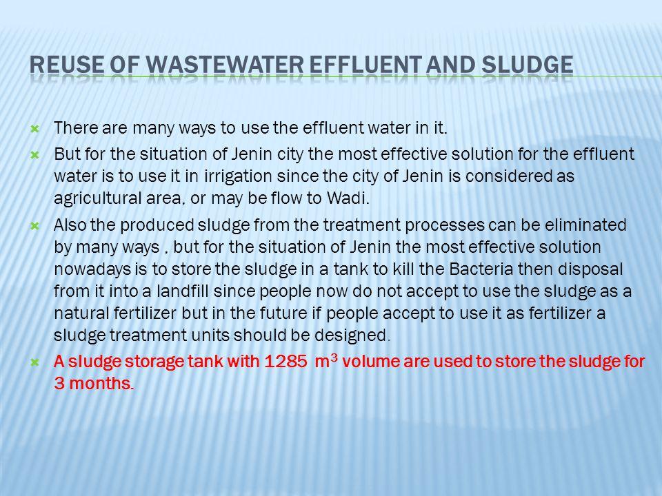 Reuse of Wastewater Effluent And Sludge