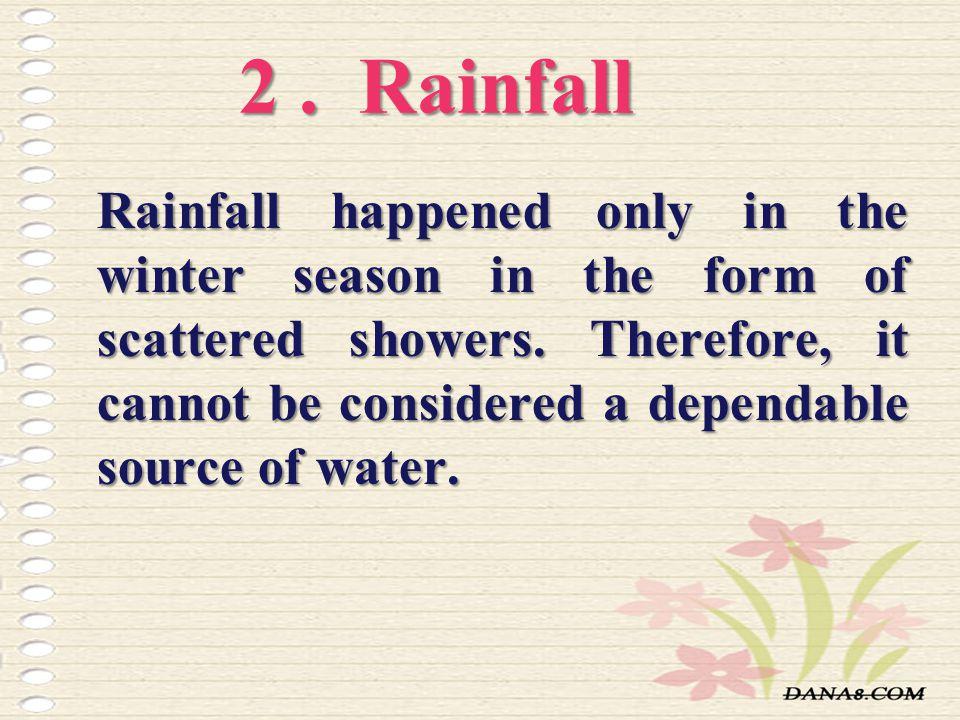2 . Rainfall