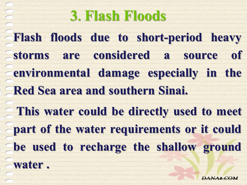 3. Flash Floods