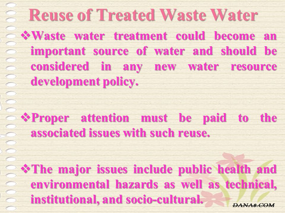Reuse of Treated Waste Water