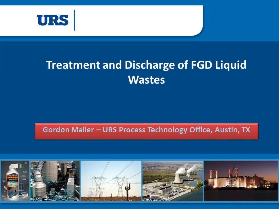 Treatment and Discharge of FGD Liquid Wastes