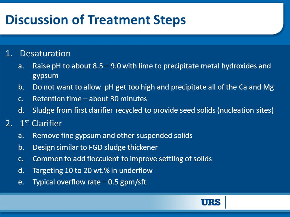 Discussion of Treatment Steps