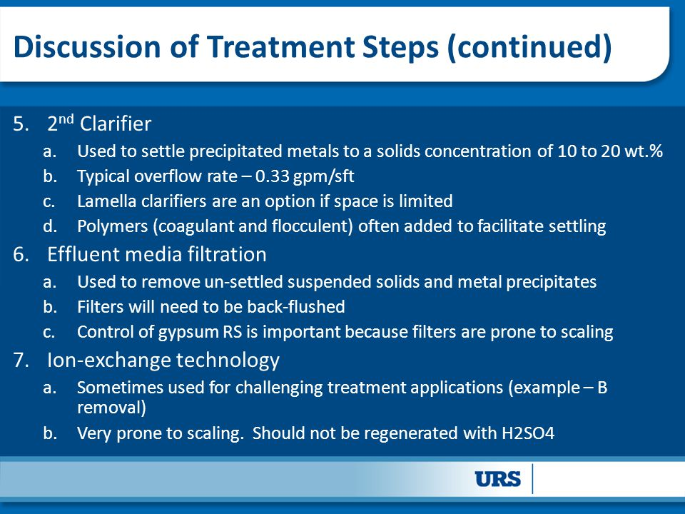 Discussion of Treatment Steps (continued)