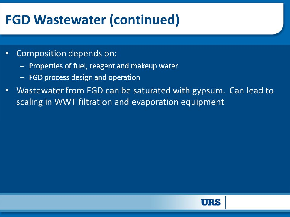 FGD Wastewater (continued)