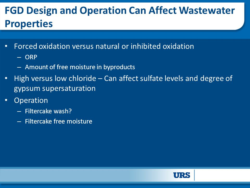 FGD Design and Operation Can Affect Wastewater Properties