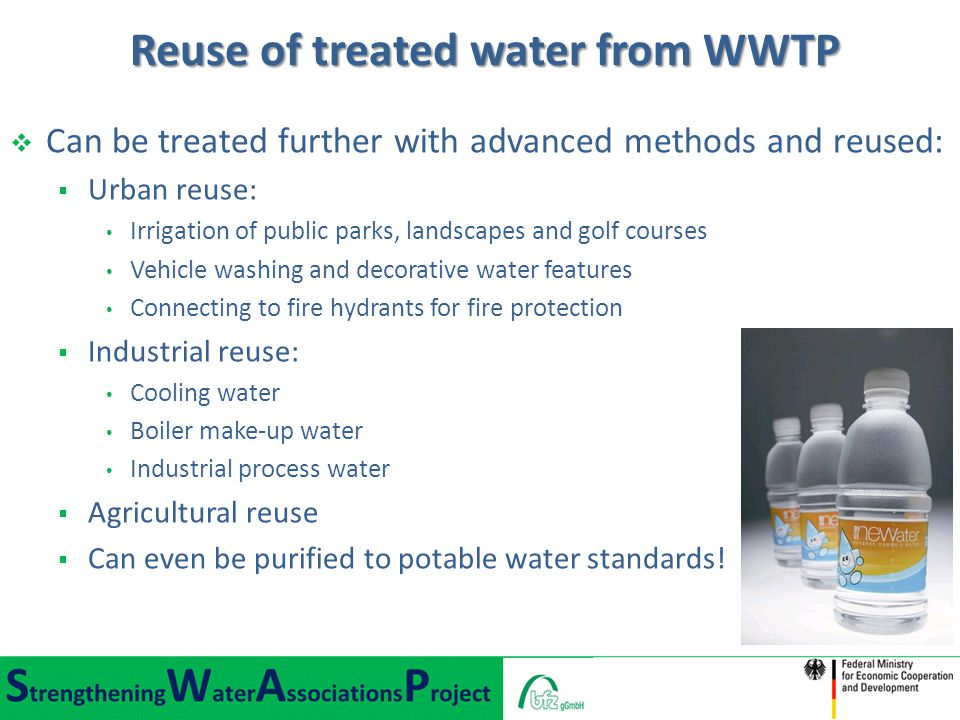 Reuse of treated water from WWTP