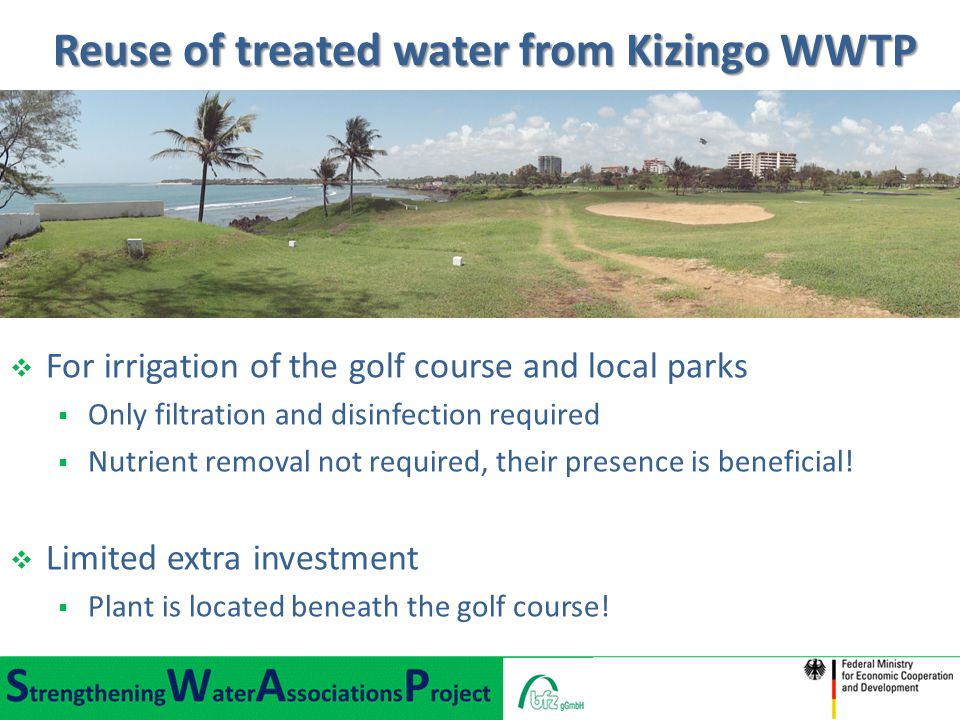 Reuse of treated water from Kizingo WWTP
