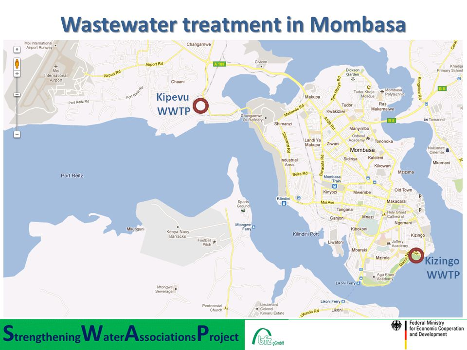 Wastewater treatment in Mombasa