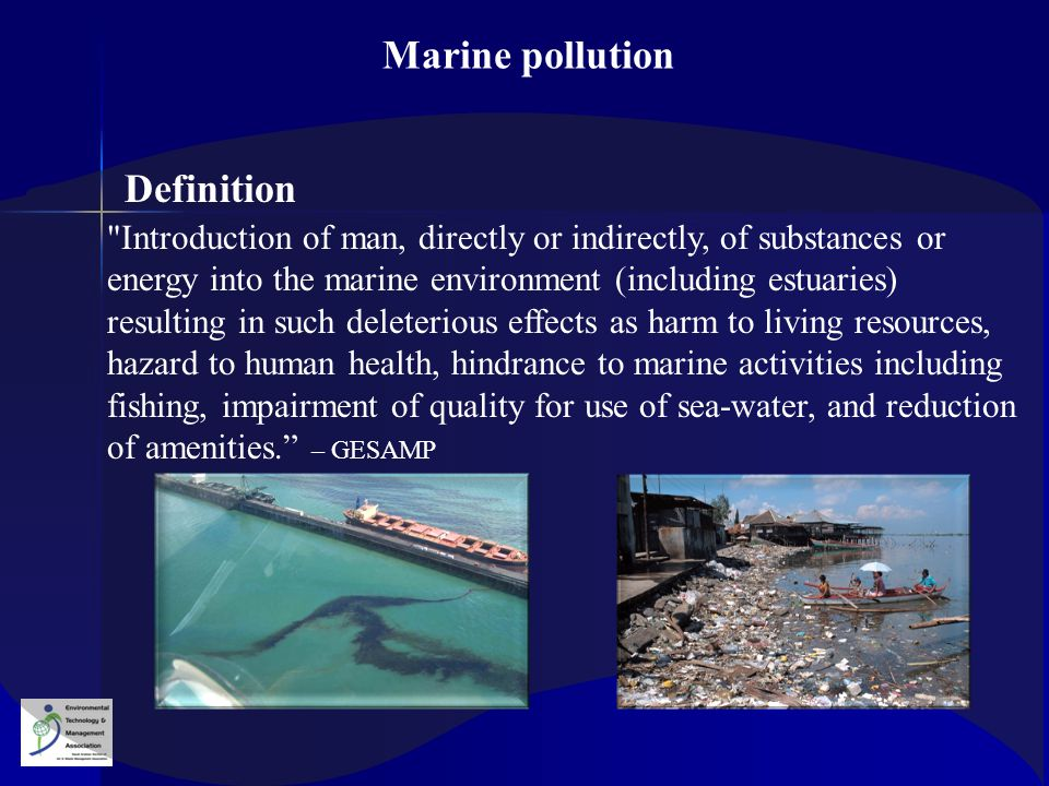 Marine pollution Definition