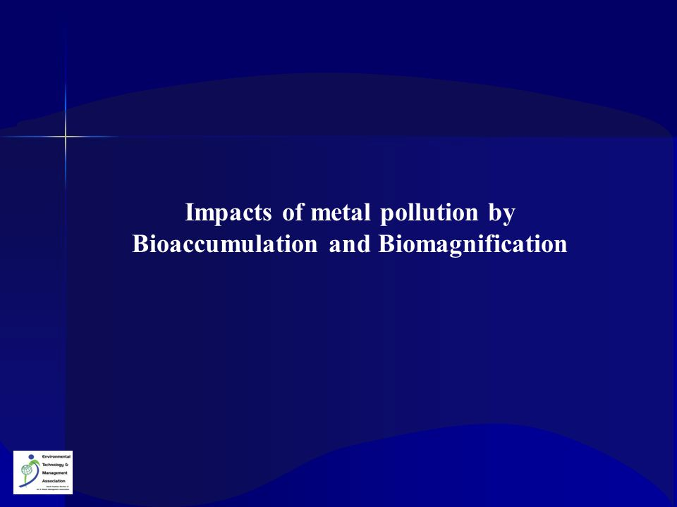 Impacts of metal pollution by Bioaccumulation and Biomagnification