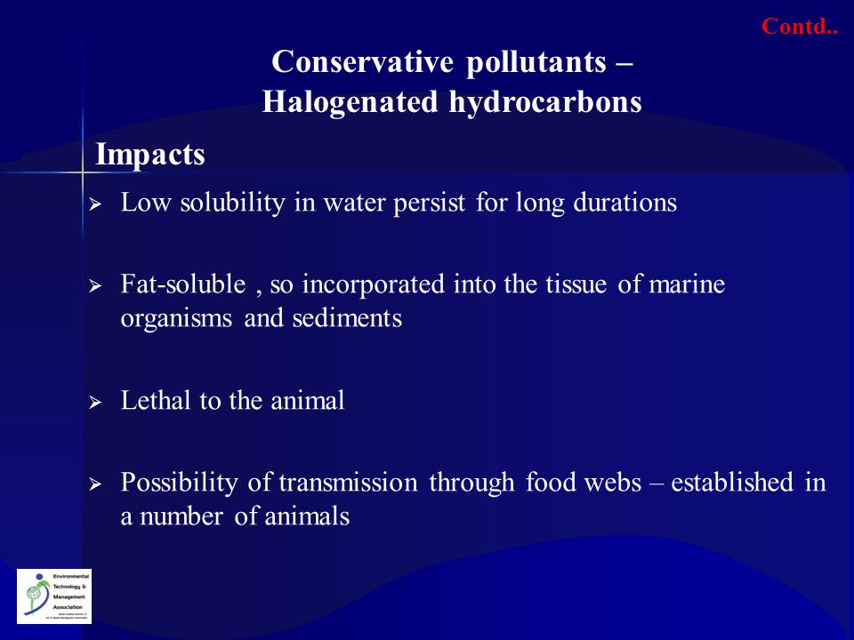 Conservative pollutants – Halogenated hydrocarbons