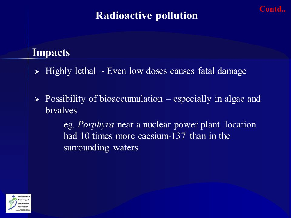 Radioactive pollution