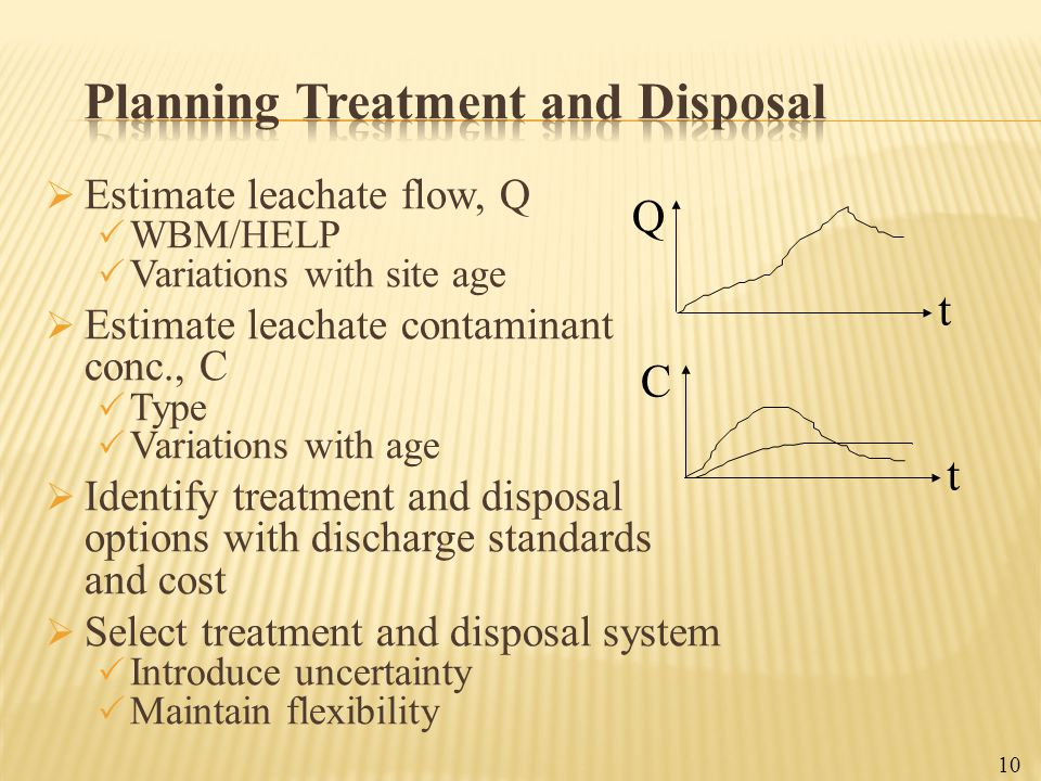 Planning Treatment and Disposal