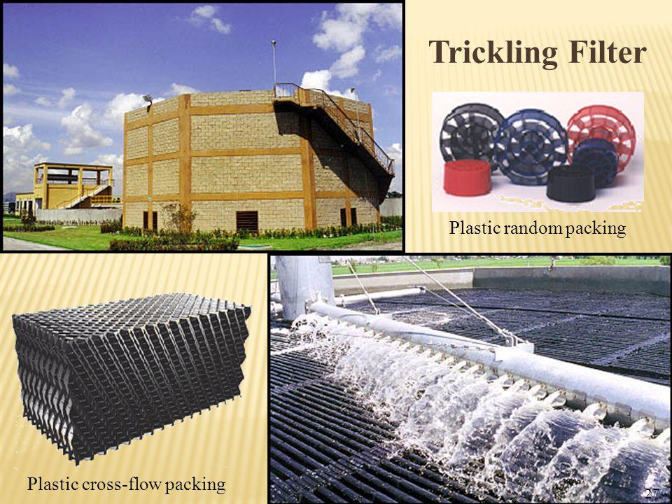 Trickling Filter Plastic random packing Plastic cross-flow packing
