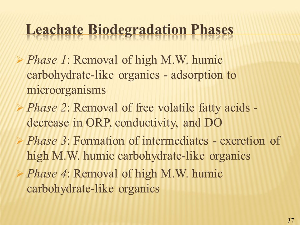 Leachate Biodegradation Phases