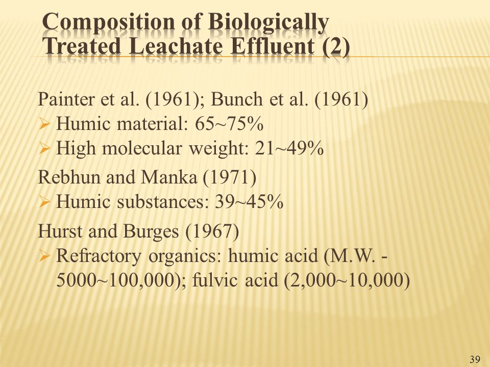 Composition of Biologically Treated Leachate Effluent (2)
