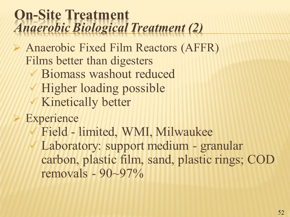 On-Site Treatment Anaerobic Biological Treatment (2)