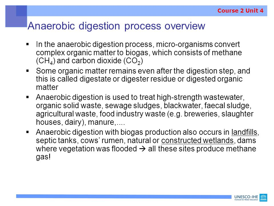 Anaerobic digestion process overview