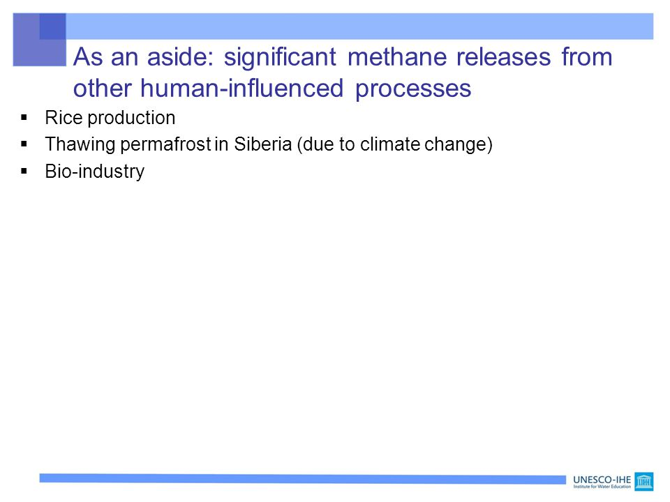As an aside: significant methane releases from other human-influenced processes