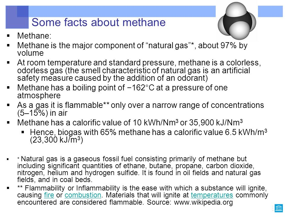 Some facts about methane
