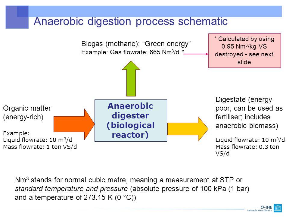 Anaerobic digestion process schematic
