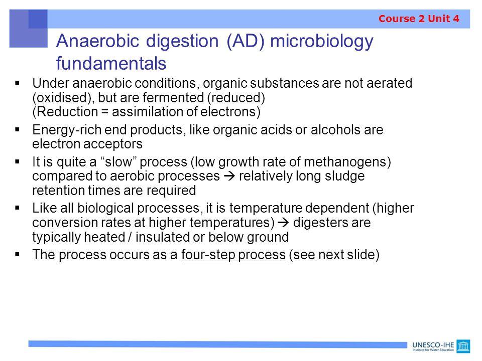 Anaerobic digestion (AD) microbiology fundamentals