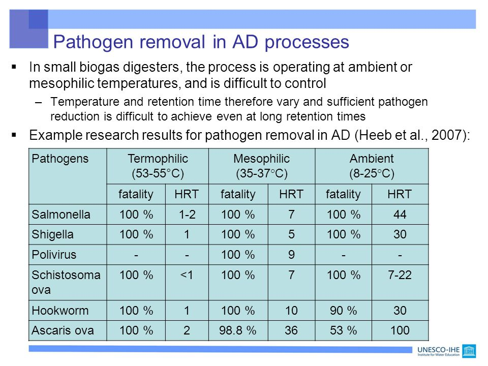 Pathogen removal in AD processes