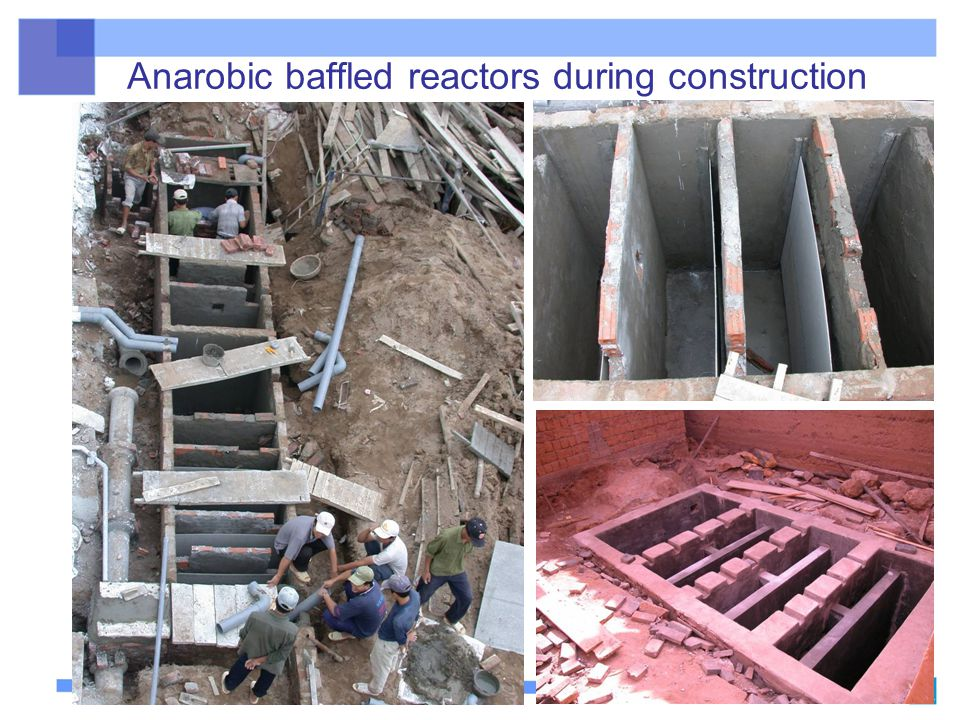 Anarobic baffled reactors during construction