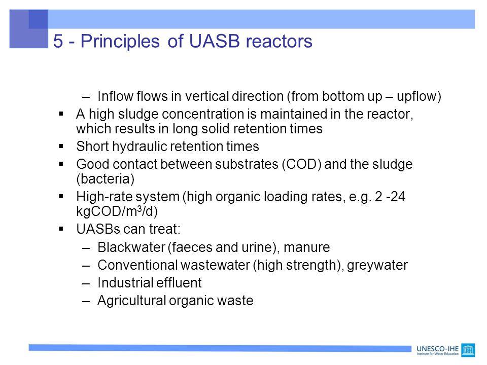 5 - Principles of UASB reactors