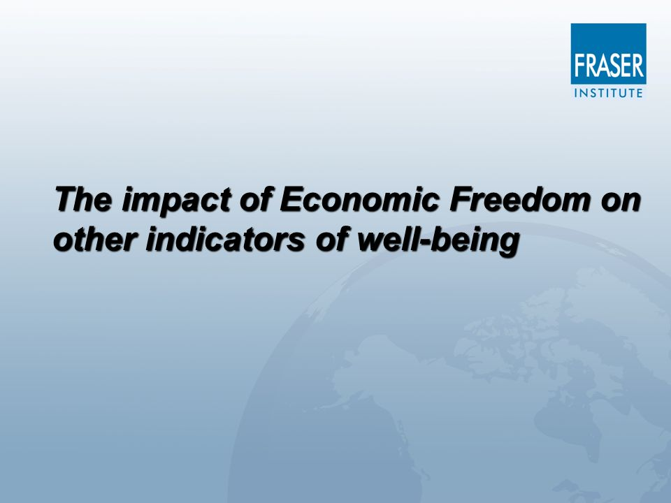 The impact of Economic Freedom on other indicators of well-being