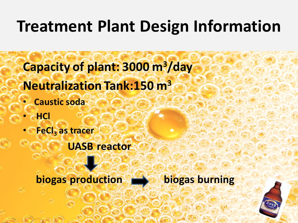 Treatment Plant Design Information