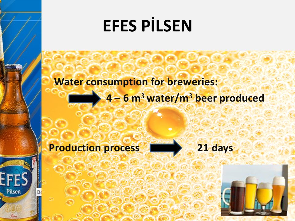 EFES PİLSEN Water consumption for breweries: