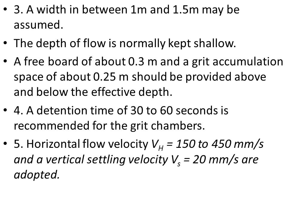 3. A width in between 1m and 1.5m may be assumed.