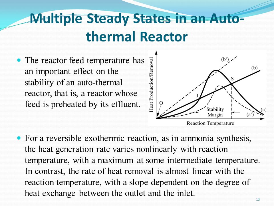 Multiple Steady States in an Auto-thermal Reactor