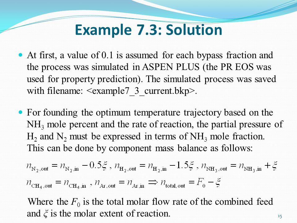 Example 7.3: Solution
