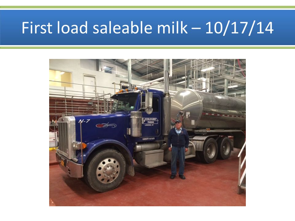 First load saleable milk – 10/17/14