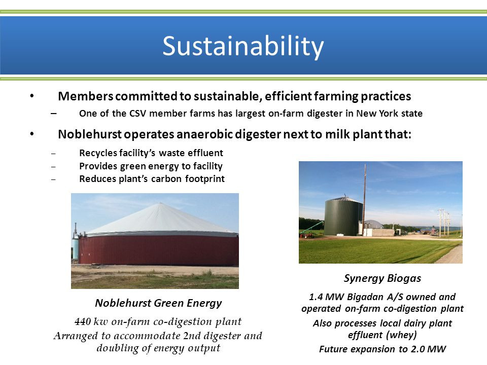 Sustainability Members committed to sustainable, efficient farming practices.
