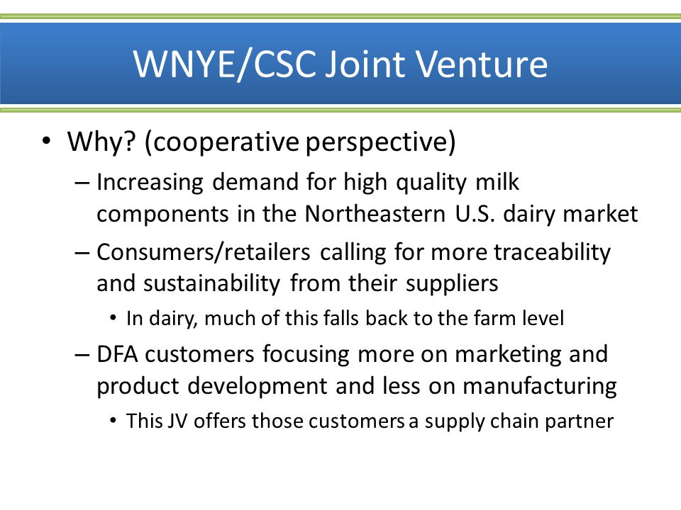 WNYE/CSC Joint Venture