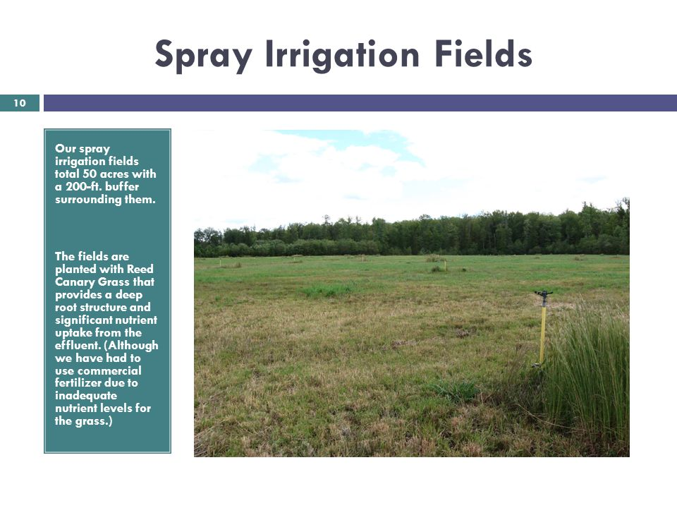 Spray Irrigation Fields