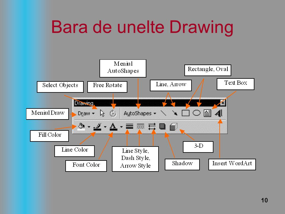 Bara de unelte Drawing