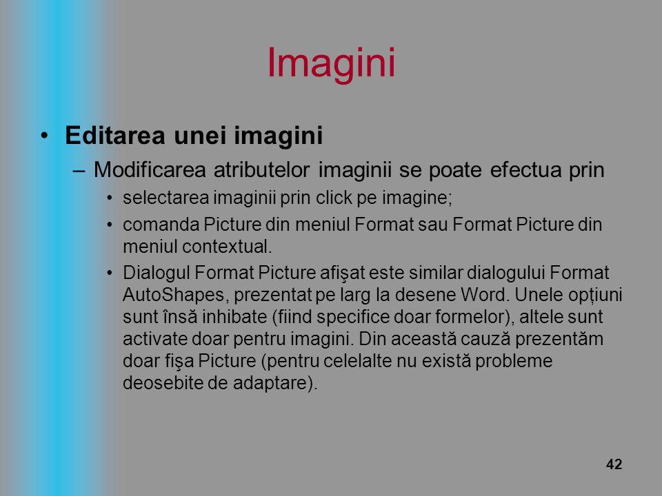 Imagini Editarea unei imagini