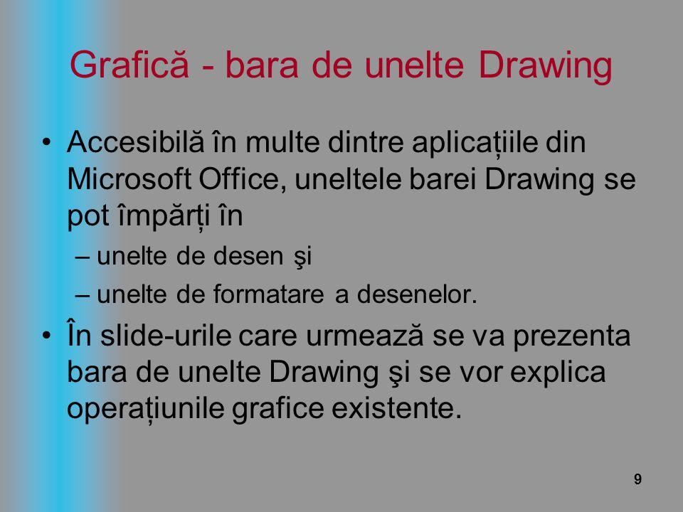 Grafică - bara de unelte Drawing