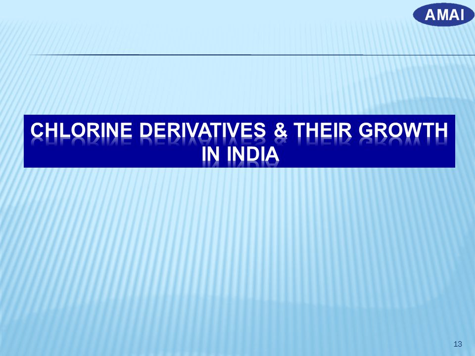 CHLORINE DERIVATIVES & THEIR GROWTH IN INDIA
