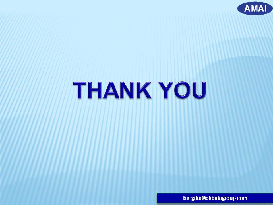 THANK YOU bs.gilra@ckbirlagroup.com